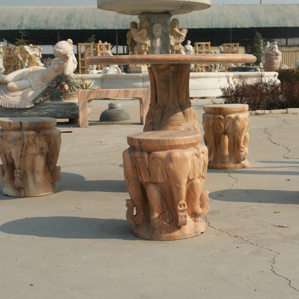 garden decor stone carving marble outdoor marble table