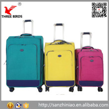 China factory price city trends soft suitcase fabric carry on lightweight travelmate luggage set