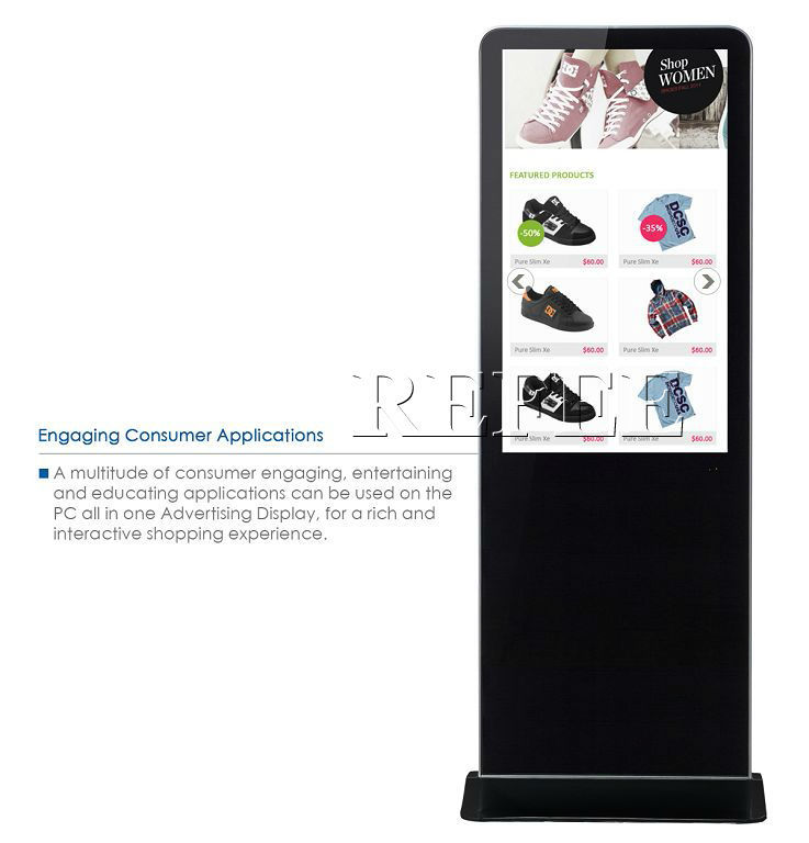 lcd touch screen advertising display,lcd video ad display with shoe polisher