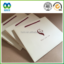 Manual paper bag UV shiny logo luxe paper bag luxury shopping paper bag different types design