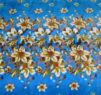 luxurious flower print flannel fabric for blankets bedding sets