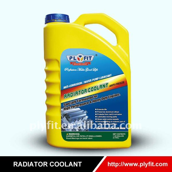 engine and radiator coolant