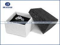 Black decorative paper covered boxes