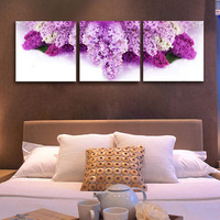 designs for fabric painting on kurtis purple flowers canvas non frame hotel salon use Mofang