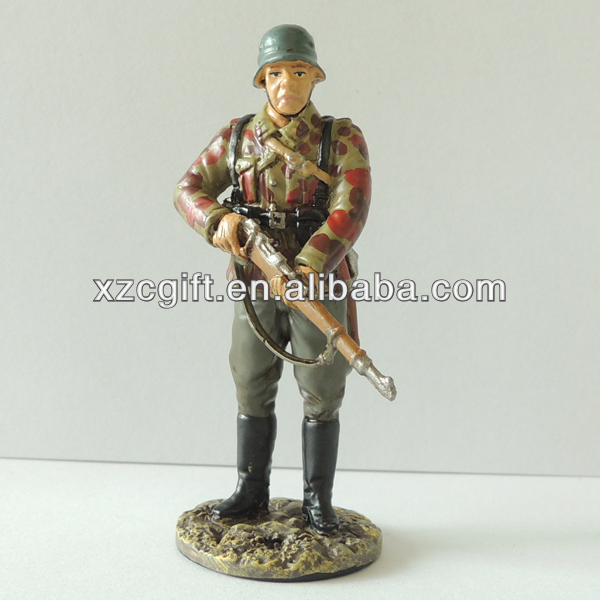 2014 New Series Hand Painting Soldier Metal Crafts