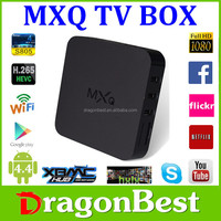 High quality MXQ Mali-450 GPU Amlogic S805 Quad Core XBMC Android4.4 Android Quad Core Android TV BOX Digital Satellite Receiver
