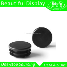 Black Plastic Round Post Caps End Tube Inserts /Round Tube Insert