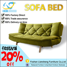 Household One person fabric folding sofa cum bed furniture designs