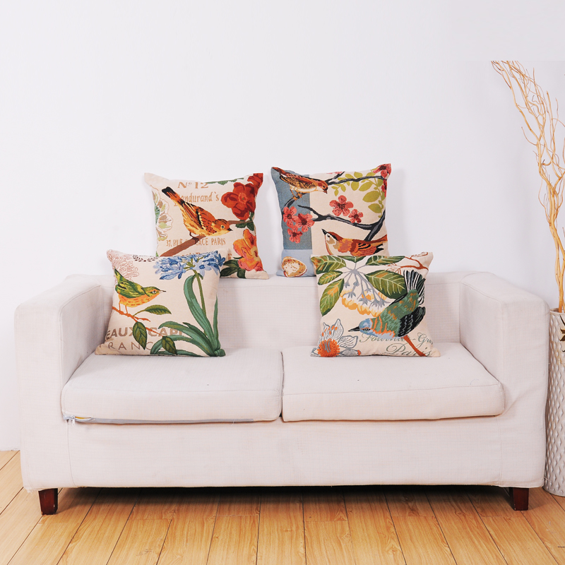Cushions Digital Printed Custom Cute Bird Sofa Cushion