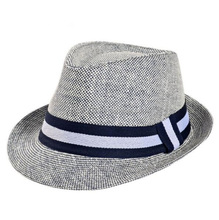 cheap European Man Classic Straw Fedora Hats for Men Jazz Cap Size 58CM