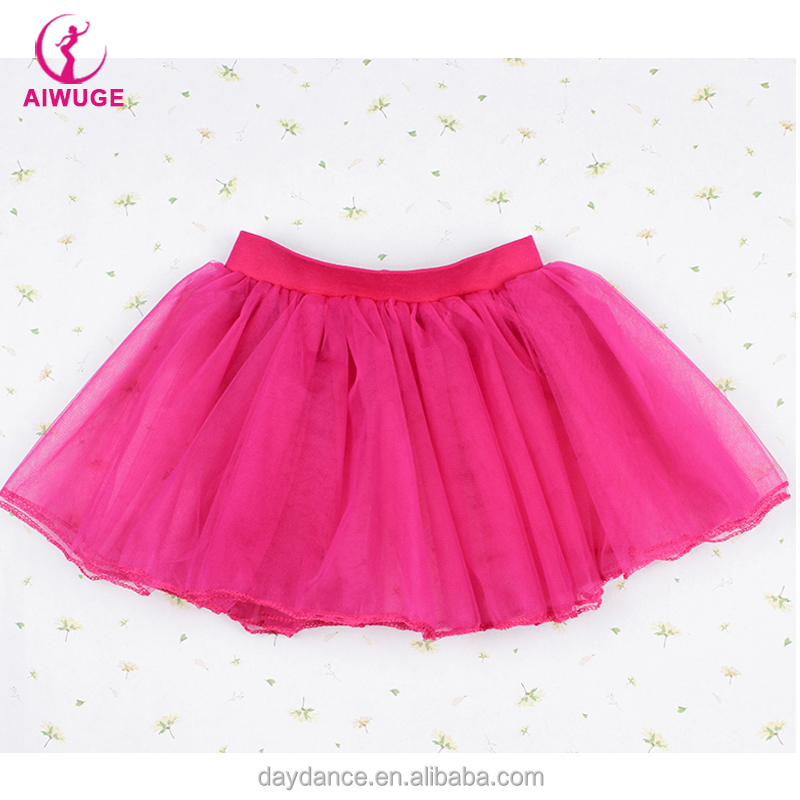OEM Baby Kids Ballet Party Pink Ballet Girls Dancing Mini Skirts