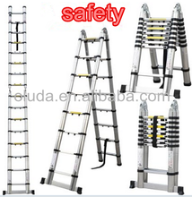 5m 16.5ft Multi-purpose Aluminum Folding Telescopic a Frame Shape ladder