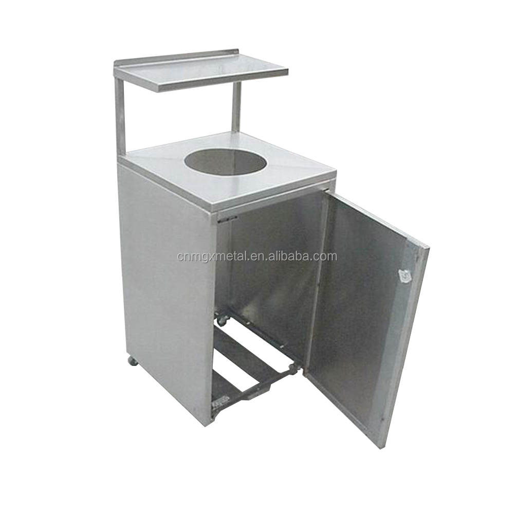 Customized High Quality Stamping Welding Brushing Stainless Steel Food Trolley