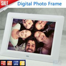 new digital photo frame support photo/music/video/clock high Resolution 8 inch digital photo frame with full function