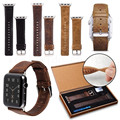 Hot Selling Crazy Horse First-Layer Genuine Leather Watch Band for Apple Watch 38mm/42mm