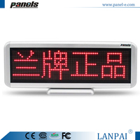 CE approved 64*256 mm red display color indoor led screen display