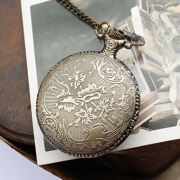 European and American fashion strange map pocket watch necklace