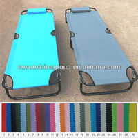 Modern design metal folding bed with pillow.