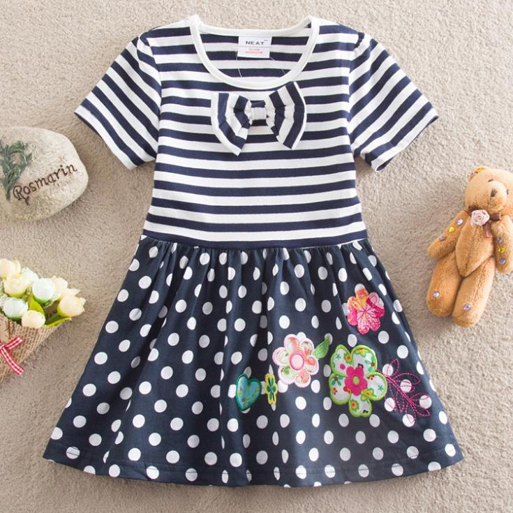 100% cotton dress with short sleeves