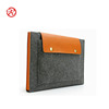 2017 Alibaba wholesale free sample felt laptop sleeve with leather