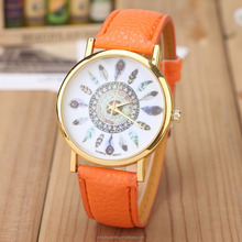 vogue quartz watch geneva Brand Luxury Sports High Quality men and women watches leather watches