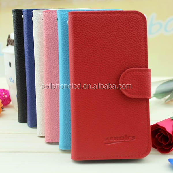 Mobile Phone Leather Case for Alcatel Idol Mini OT-6012