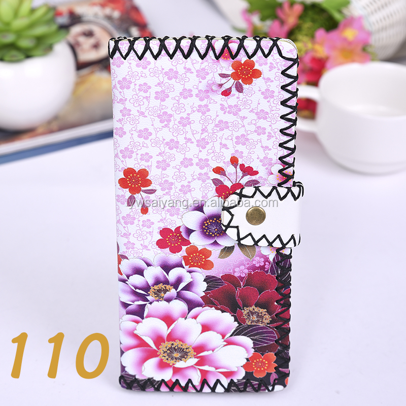 New arrival printed design PU leather long wallet