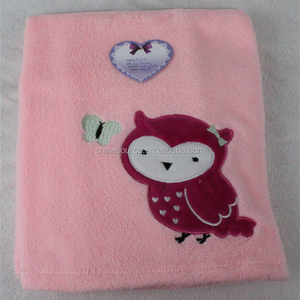new products Custom Kids Embroidery coral fleece Swaddle Baby Blanket