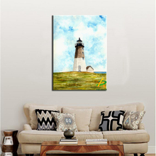 Hot Sale Beautiful print Painting Wall Art Painting A lighthouse by the sea Canvas Painting For Home Decoration