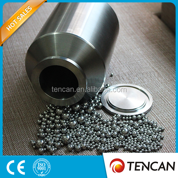 Stainless steel lab ball mill pot for planetary ball mill and roll jar mill