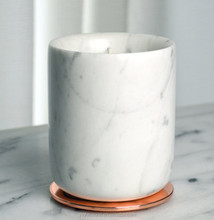 Hot sale marble storage kitchen white candle holder