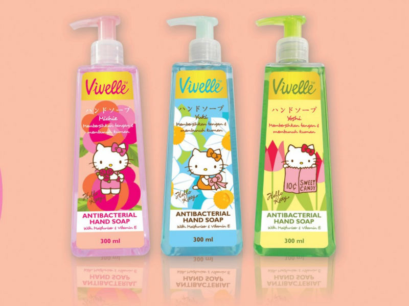 Hello kitty Vivelle antibacterial hand soap