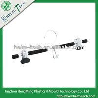 Anti-skidding Electroplating Iron Trousers Hanger with Two Clips--S8031