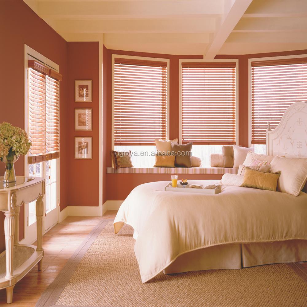 Decoraci n 50mm persianas de madera ventanas de persianas - Decoracion de persianas ...