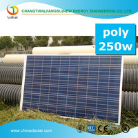 Hot selling 250w poly industrial solar panel