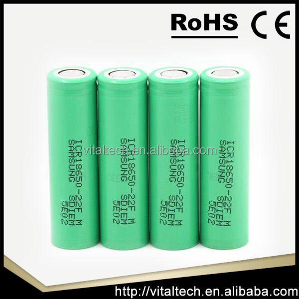 Directly selling high discharge lithium for samsung 18650 25r 3.6V 2500mAh li ion battery cell 18650 vape