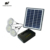 Portable solar home lighting system with 3lamps, USB charger, replaceable battery