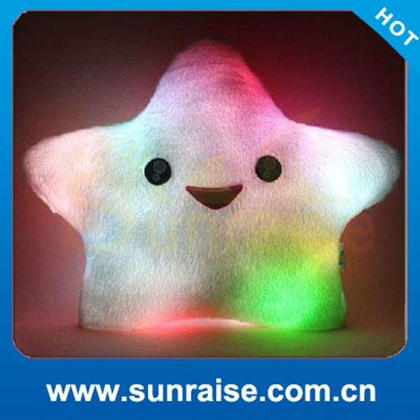 Good Quality star shape led light pillow / lucky star led pillow Made in China