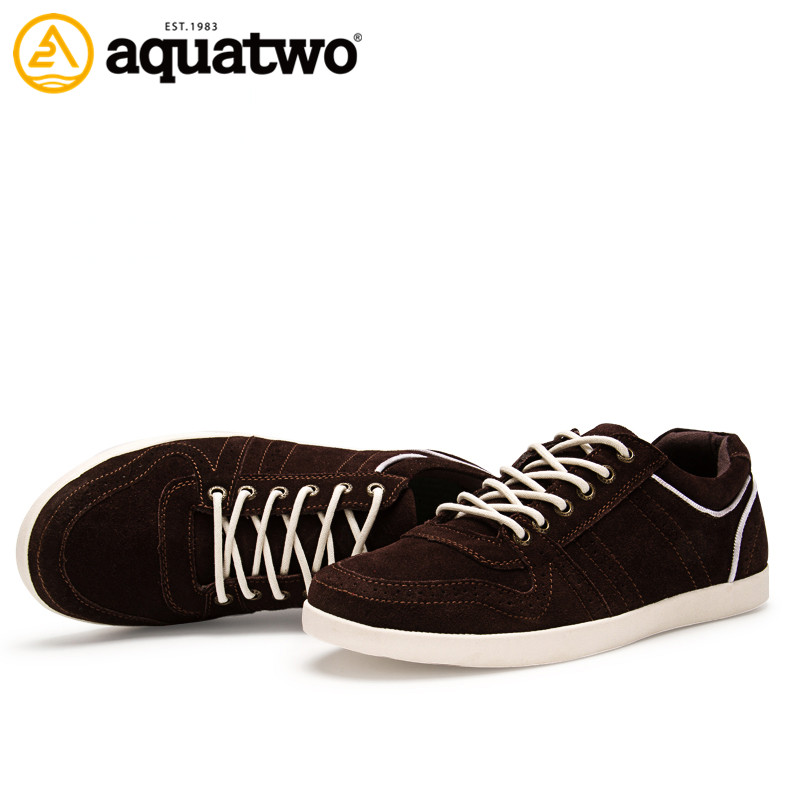 China Factory Customzie Aquatwo Leather Men Casual Shoes with Sneakers Soles
