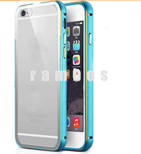 Buy Bulk from China Metal Aluminum Bumper + Hard Back Clear Transparent PC Cases Cover for iPhone 5 5S