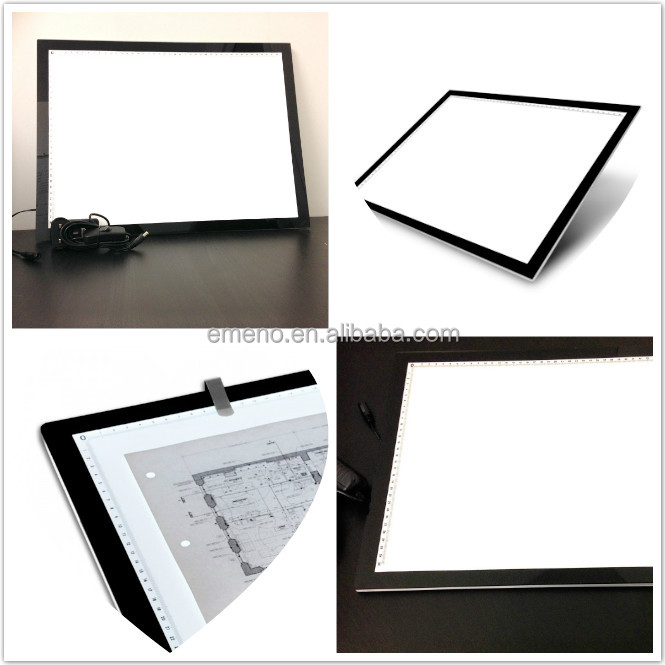 Ultra Thin LED Light Art Drawing Pad Tracing Pattern Table Stencil Board A3