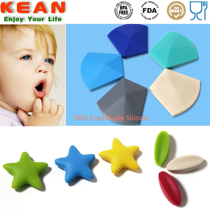 Hexagon Silicone Beads Wholesale Food Grade Silicone Teething Beads Bulk