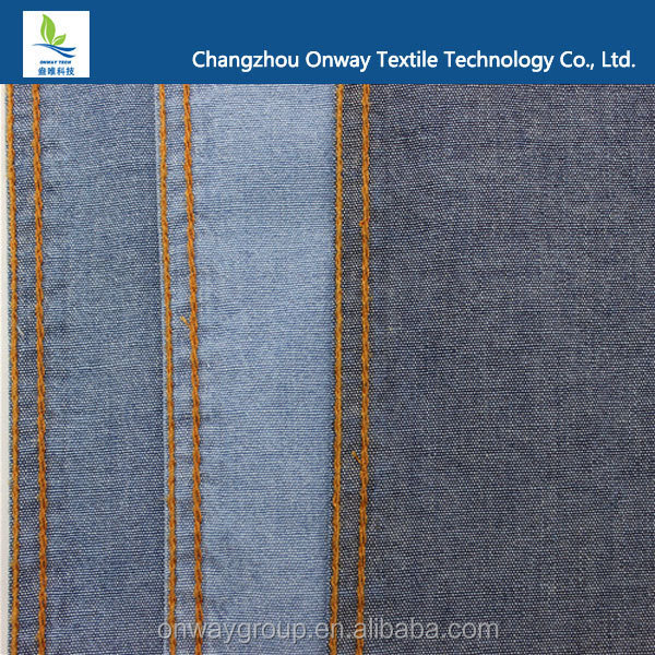 "Hot sale!60 ""wide 5 oz combing blue black light weight 100% cotton twill denim fabric price in changzhou"