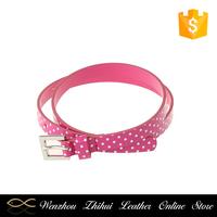 Best selling OEM quality unique design wave printing pu belt lovely girl belt