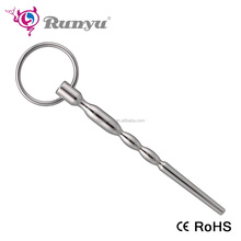 Medical Stainless steel urethral dilator toys penis plug with ring