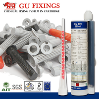 Sleeve fixing in hollow block fast gelling epoxy brick adhesive