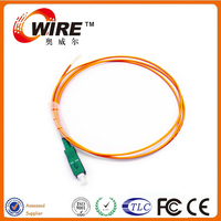 Ethernet Cable Mulit Mode 1 Core SC APC 30M Optic Fiber Pigtail For Home