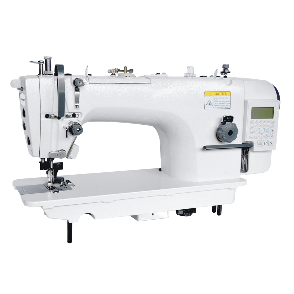 High speed computerized direct-drive full function auto trimmer lockstitch industrial sewing machine