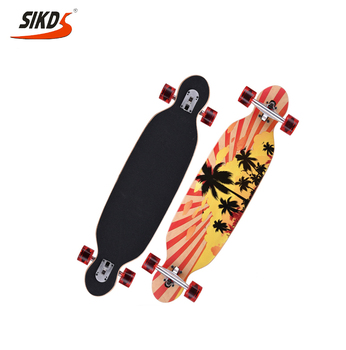 China factory maple longboard with canadian maple deck long board manufacturer