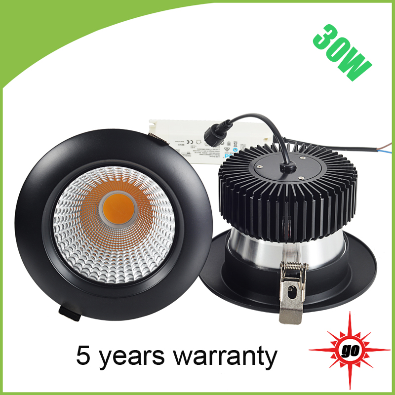 Fixed direction cob downlight high end suspend 30w led ceiling light